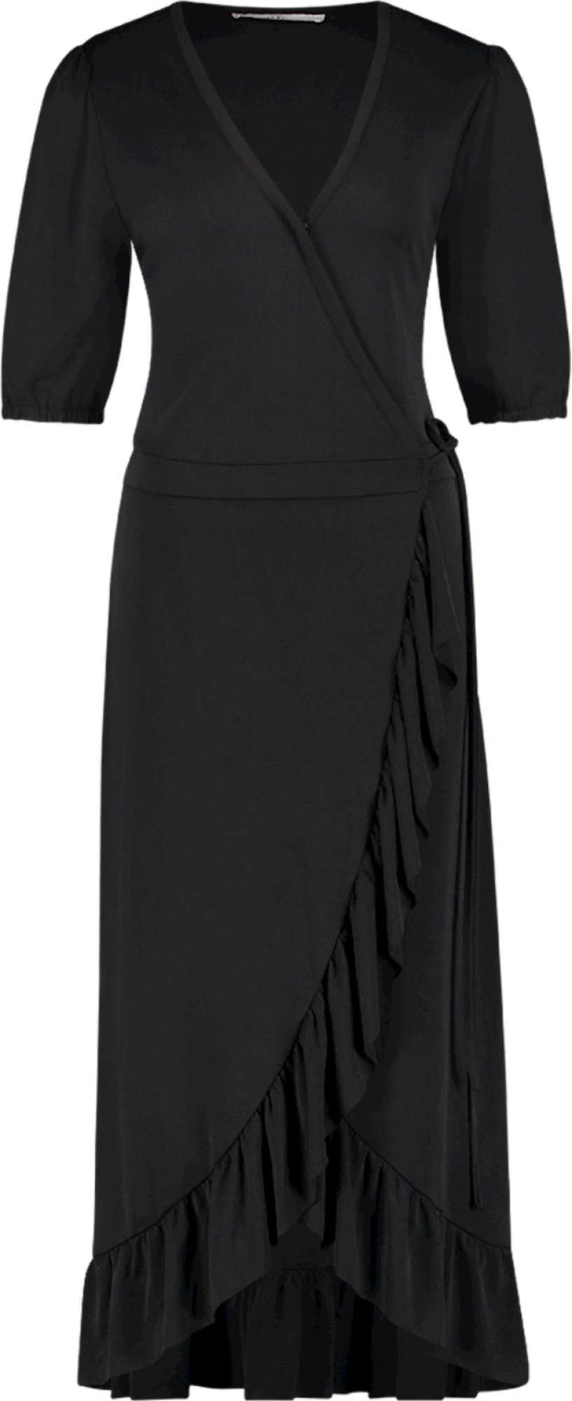 Margit wrapp dress black jersey