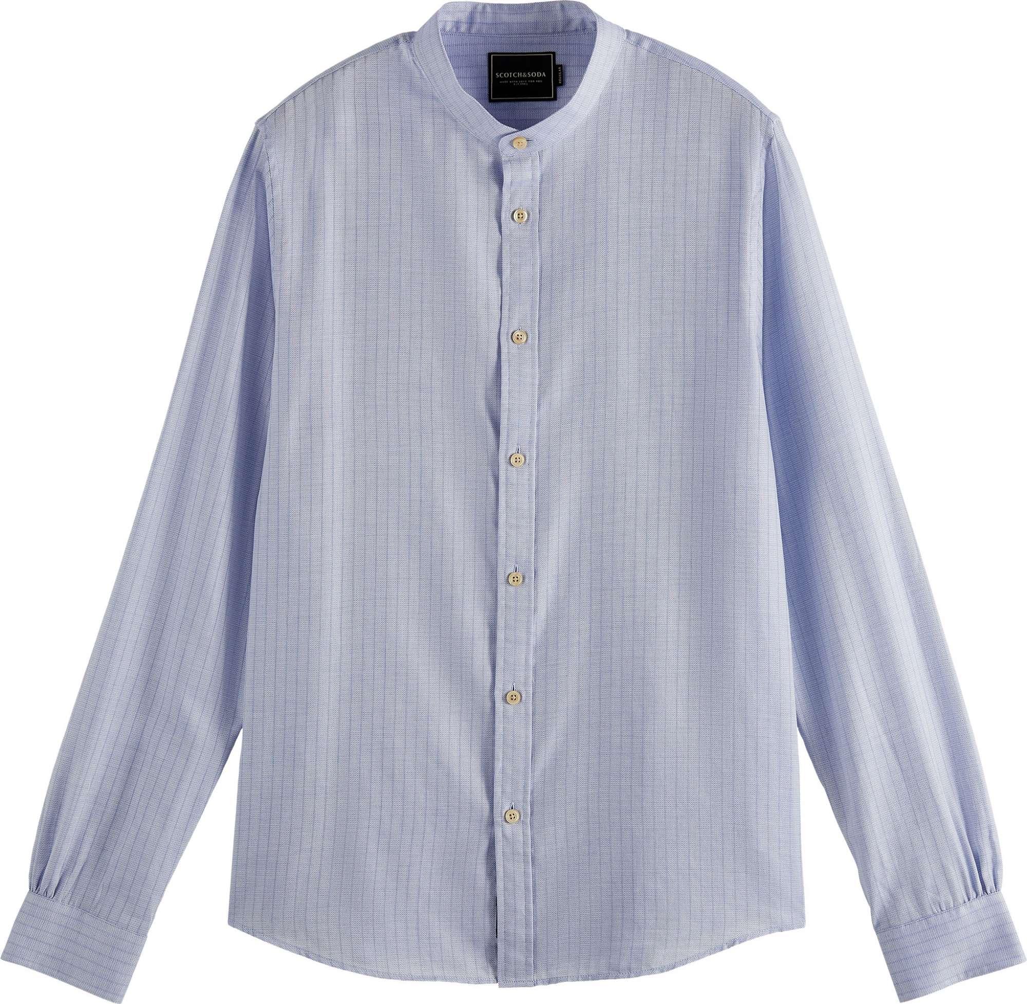 Regular fit- lightweight structured blue