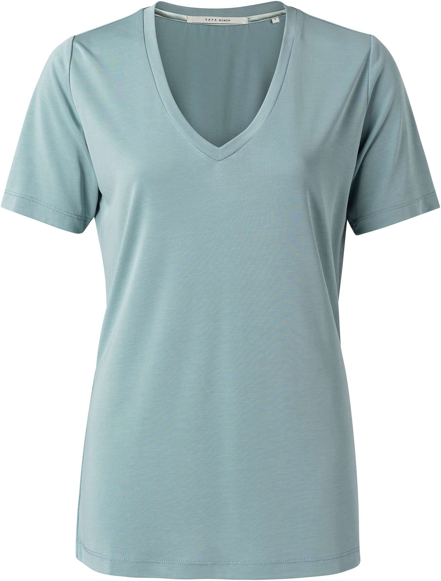 Modal v-neck t-shirt rainy sky