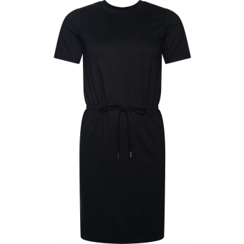 Drawstring t-shirt dress black