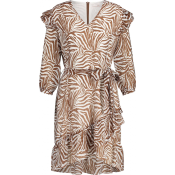 Valenthe dress white & brown printed