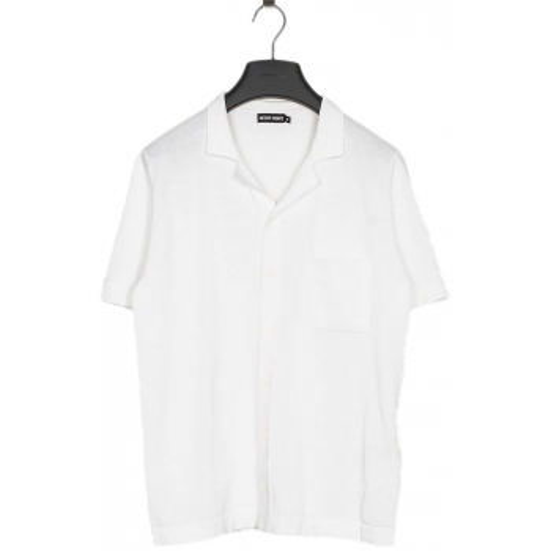Short sleeve knit polo slimfit white