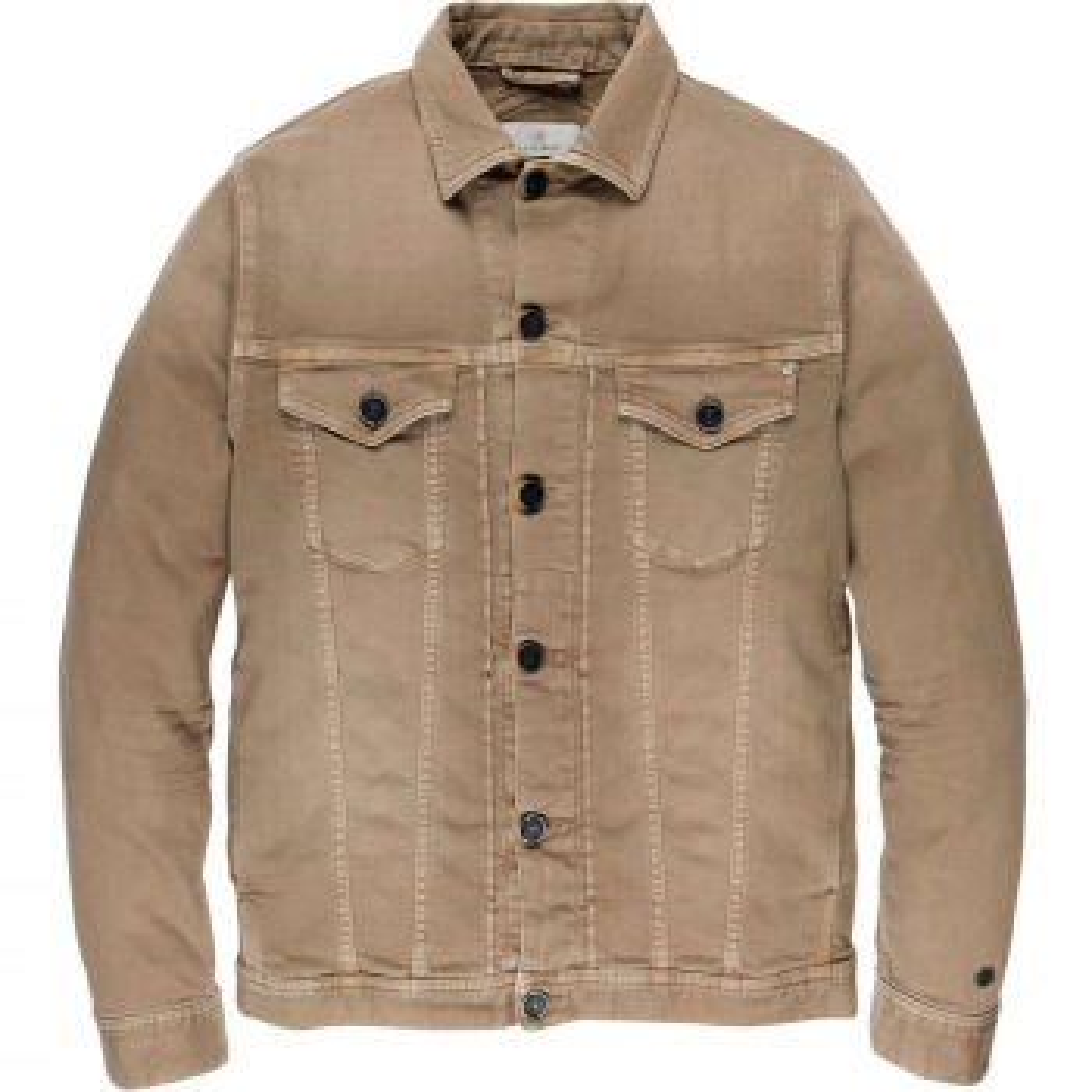 Short jacket colored denim sepia tint