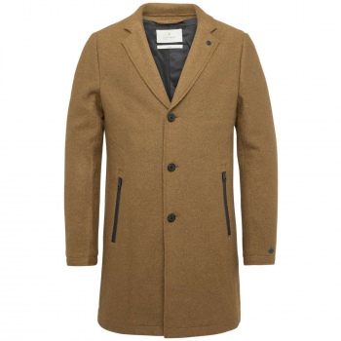 Long jacket boiled wool roadture rubber