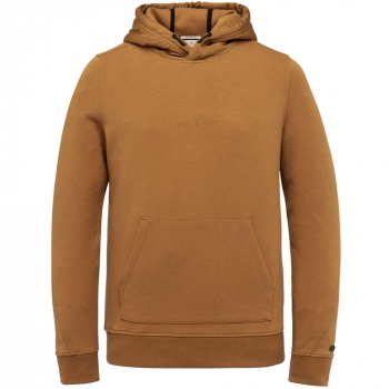 Hooded relaxed fit cotton interloc rubber