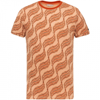 Short sleeve r-neck slim fit jerse dusty coral