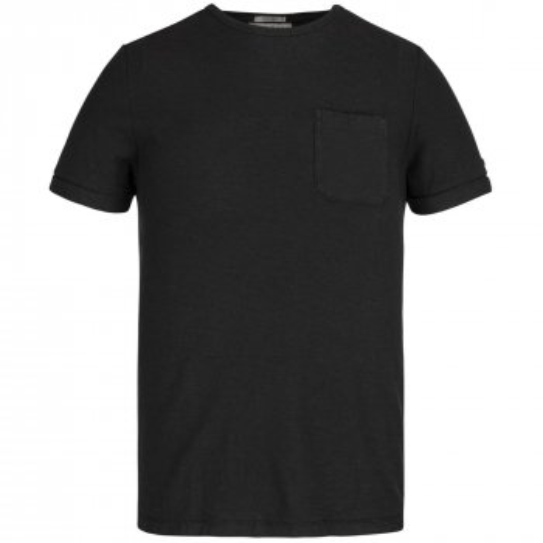 Short sleeve r-neck garment dyed s black