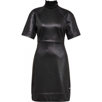 Glossy high collar sweat dress wmn s\s