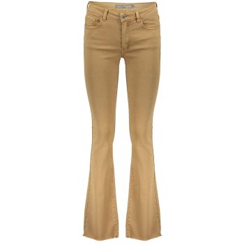 Flare jeans camel