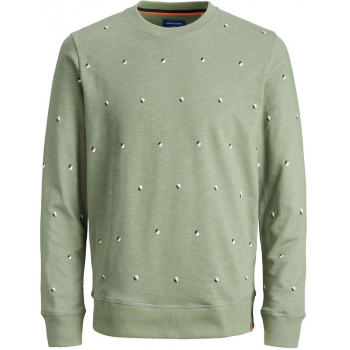 Jorlogon aop sweat crew neck sea spray/sweat