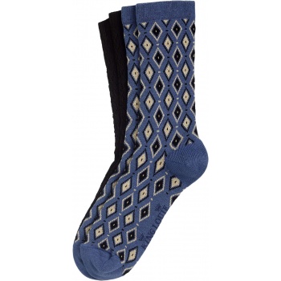 2 pack socks deuce bluestone-blue