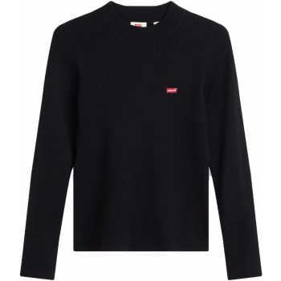 Crew rib slimfit sweater black