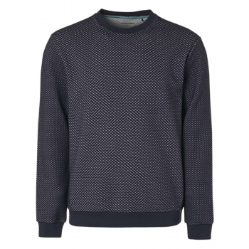 Sweater crewneck relief double fabr night