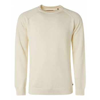 Pullover crewneck garment dyed with offwhite
