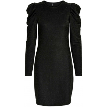 Onldarling l/s glitter puff dress jrs black/black