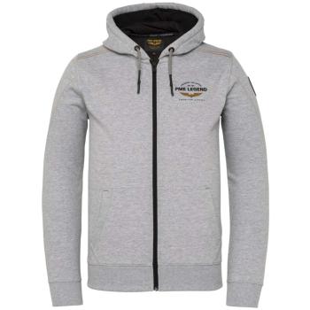 Hooded jacket brushed sweat grey melee