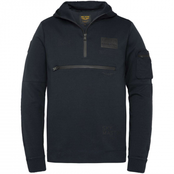 Hooded interlock sweat sky captain