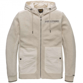 Hooded jacket structure sweat bone white melee