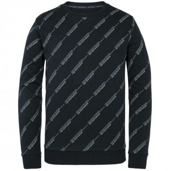 R-neck interlock sweat sky captain