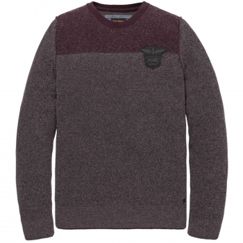 Crewneck cotton boucle knit catawba grape
