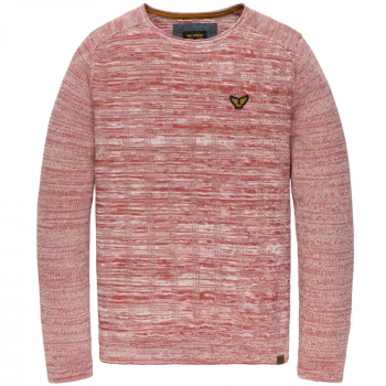 Crewneck cotton mouline mineral red