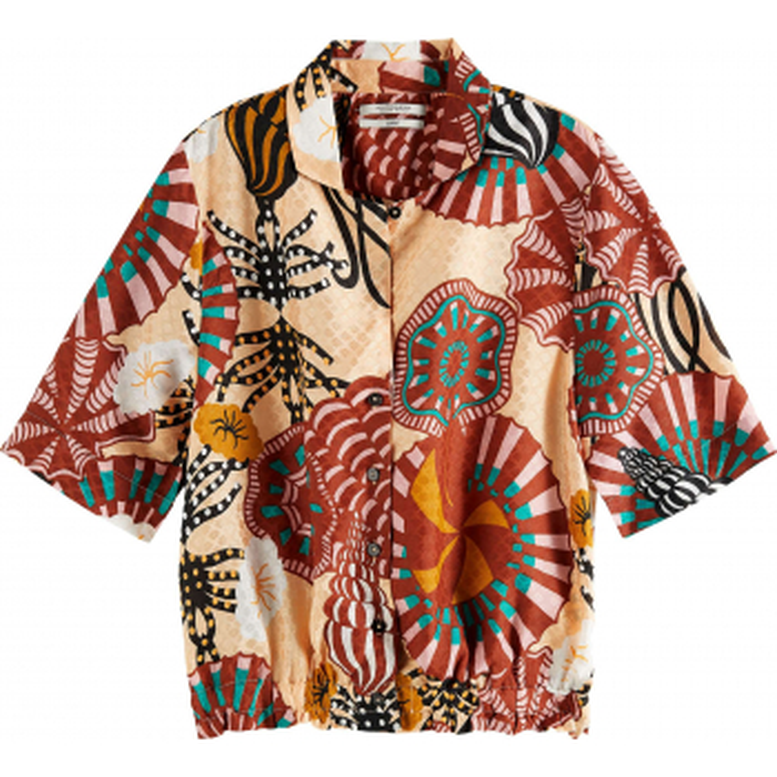 Hawaii shirt in printed viscose blouson jack