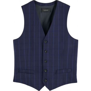 Classic yarn-dyed structured gilet combo a