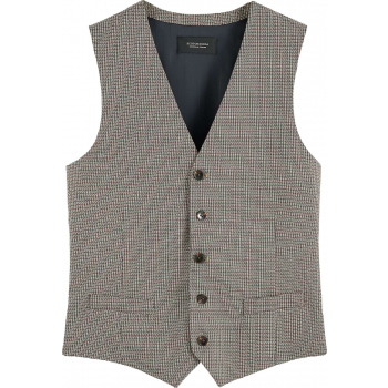 Classic yarn-dyed structured gilet combo c