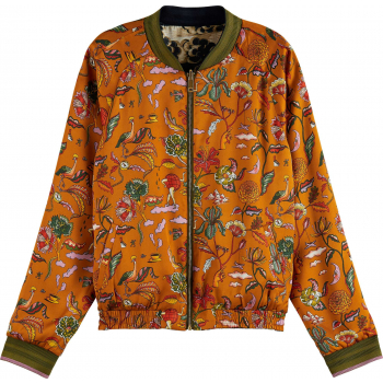 Reversible all over printed bomber combo a