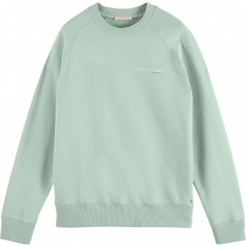 Classic crewneck in organic cotton seafoam
