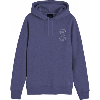 Hooded sweat with chest artwork night