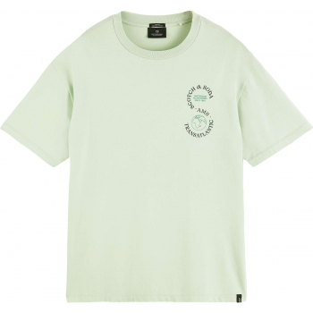 Organic cotton jersey artwork tee sea foam