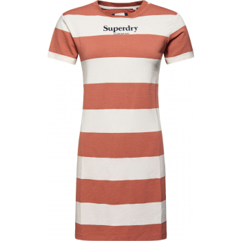 Darcy striped t shirt dress biscuit