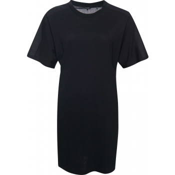 Cotton modal t-shirt dress black