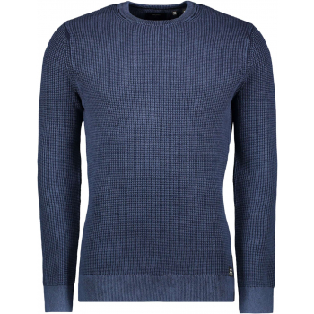 Academy dyed texture crew washed dk navy