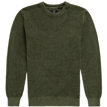 Academy dyed texture crew washed dk olive