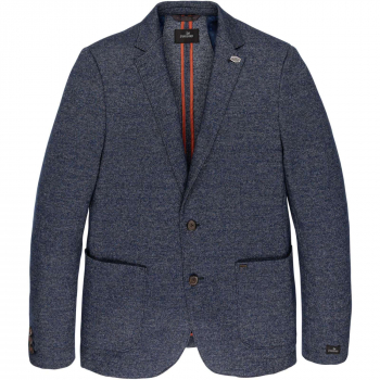 Wool knit raceford blazer medieval blue
