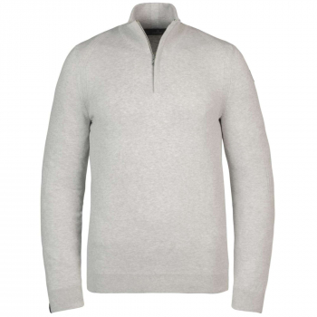 Half zip collar cotton melange bone white melee