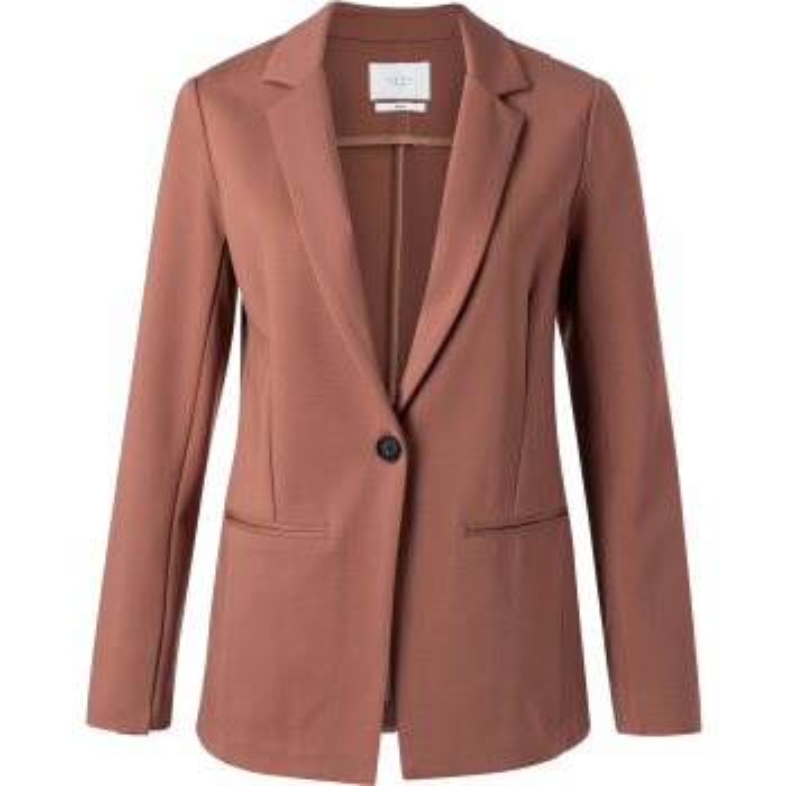 Jersey tailored blazer russet