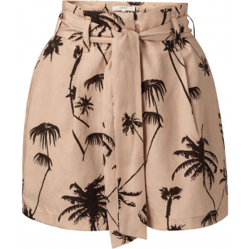 High waist printed short frappe dessin