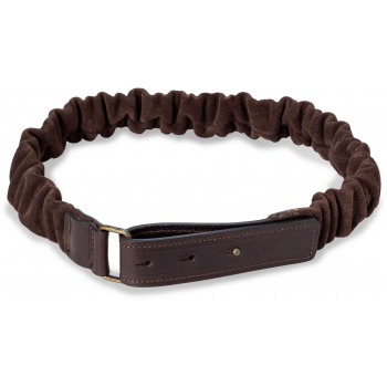 Suede belt with ruffles chocolate