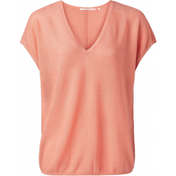 Buttons on the back knit top  dahlia roze