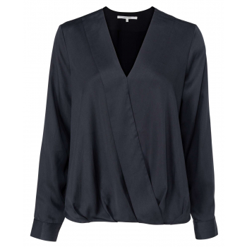 Drapy top with v-neck anthracite