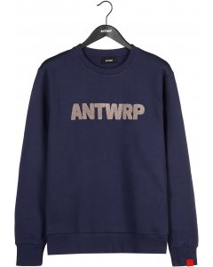 Brushed sweater navy