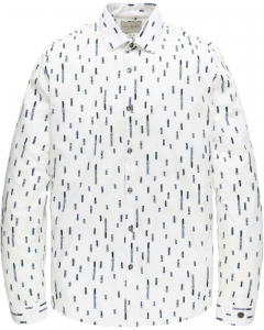 Long sleeve shirt print onpoplin s bright white