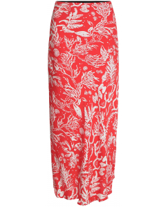 Laurie skirt coral &off white