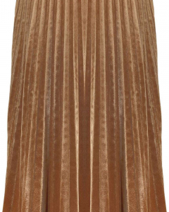 Skirt gold brown velvet plissé