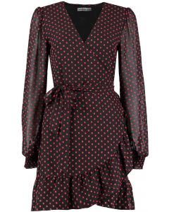 Evi dress brown red