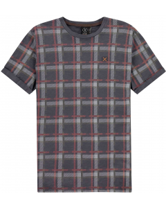 T-shirt faded plaid india ink