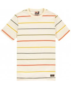 T-shirt color stripes pearled ivory